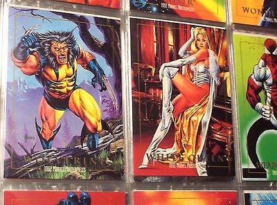 1992 1993 1994 MARVEL MASTERPIECES COMPLETE MASTER CARD SETS! 37 INSERTS VENOM!