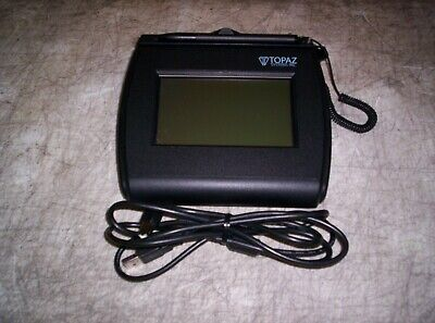 Nice Topaz T-lbk750-bhsb-r Signature Tablet With Cable Usb Backlit Guaranteed