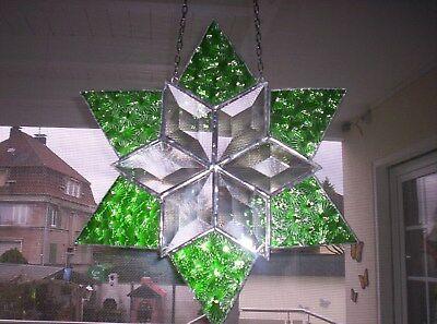 Tiffany Weihnachtsmotive.Fensterbild Stern