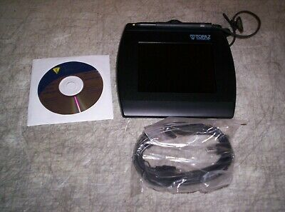 Unused Topaz T-lbk57gc-bhsb-r Signature Tablet With Usb Cable And Cd Guaranteed