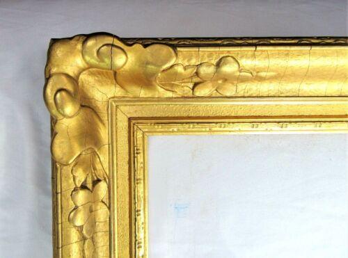 """ANTIQUE FITS 26"""" X 31"""" LEMON GOLD GILT ORNATE NEWCOMB MAKLIN STYLE ART NOUVEAU"""