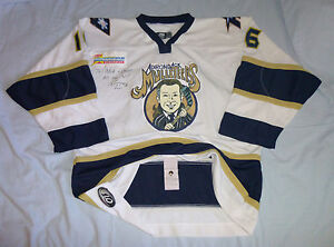 ADIRONDACK FROSTBITE game worn jersey MULLETEERS icehawks phantoms used UHL CHL