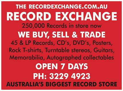 Records,vinyl,guitars,cd,s,stereo,buy,sell ,trade,rock t shirts Spring Hill Brisbane North East Preview