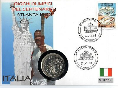 Numisbrief 100 Jahre Olympische Spiele Atlanta 1996 Italien