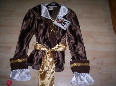 Deluxe Piraten Damen Kostüm Piratin Admiral Freibeuterin Komplett Seefahrer 48 (Deluxe Piraten-kostüm)