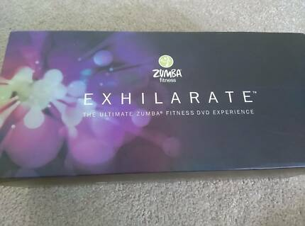Zumba Exhilarate 7 DVD set with rhythm sticks