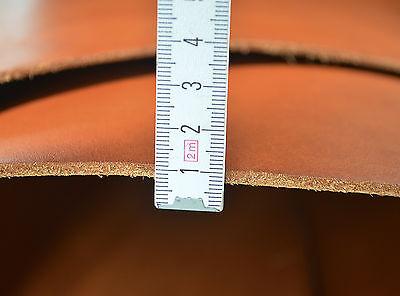 Leder, Dickleder, Glattleder, LARP Lederzuschnitt DINA4, ca.3,3 mm, Antik-Cognac