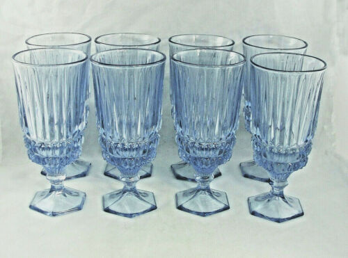 "Fostoria 8 Light Blue Heritage Ice Tea Goblet 7 1/8"" NEW OLD STOCK"