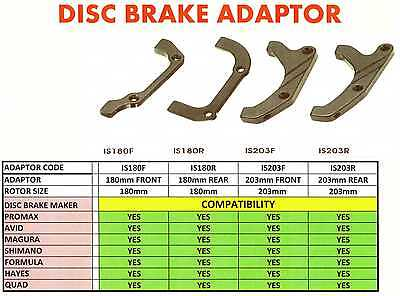 Formula Front Disc Brake Adaptor IS 203mm