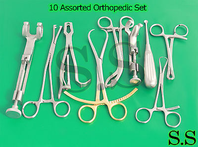 10 Assorted Orthopedic Surgical Instruments Custom Made Setsr-532