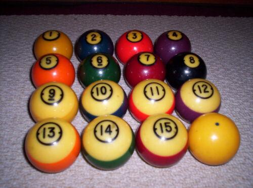 COMPLETE Vintage Set Brunswick Centennial Pool Balls