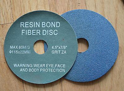 """200 Pack 4.5/"""" Ceramic Resin Fiber Disc 36 Grit 4-1//2/"""" Grinding /& Sanding Discs"""