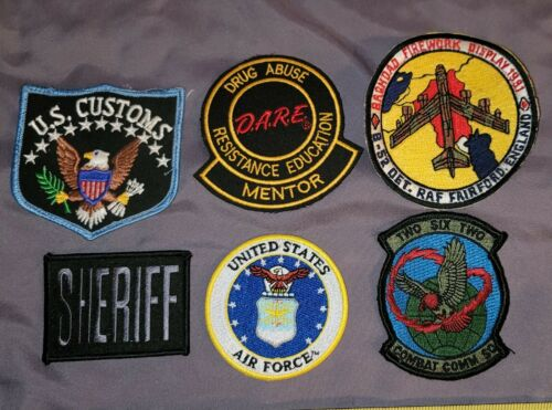 Vintage Obsolete Police Patch Lot NEW NOS Customs DARE Sheriff Airforce More