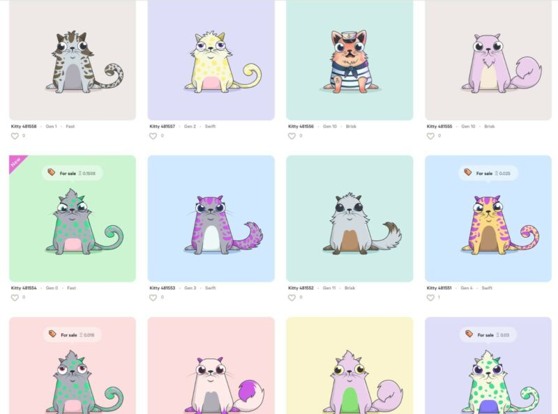 CryptoKitties Starter Pack - TWO(2) CryptoKitties Ready to Breed - Ethereum Game