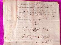 Documento De Hostalrich, Fuero Militar 1826 -  - ebay.es