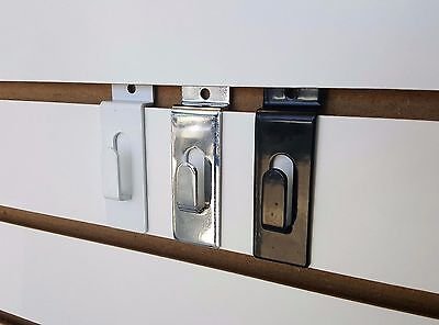 Slatwall Notch Utility Picture Hook Black White Or Chrome 10202550 Or 100