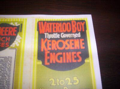 Waterloo Boy Model K Gas Engine Kerosesne Color Sales Brochure