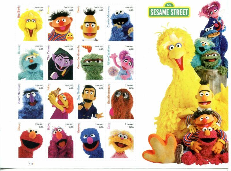 US Scott #5394 Sesame Street Forever Sheet MNH.  Free Shipping.