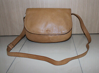 🦋PICARD🦋 Handtasche Umhängetasche Schultertasche Tasche Beige-Braun Echtleder