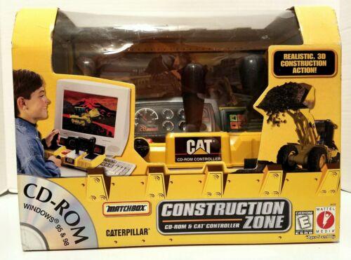 Caterpillar Construction Zone (CD-ROM & Cat Controller, 1999, Mattel / Matchbox)