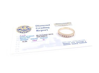 Yellow Gold Diamond Eternity Ring 18 Carat London 1997 HM With Certificate
