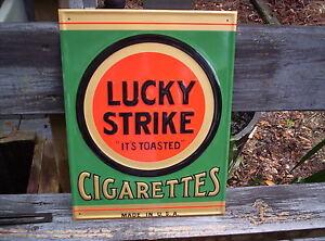 LUCKY STRIKE CIGARETTE SIGN TOBACCO CIGAR USA MADE CAMEL WW2 STYLE