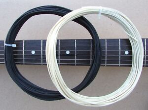 8 ft vintage push back cloth 22 awg guitar wire / black & white tinned