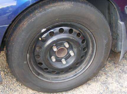 "15"" x 6"" Holden Commodore 205-65-15 tyres on chaser rims"