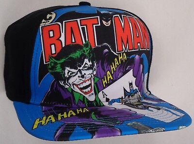 Hat Cap Licensed DC Comics Joker Batman Comic Cover Sublimation Black CC](Joker Hat Batman)