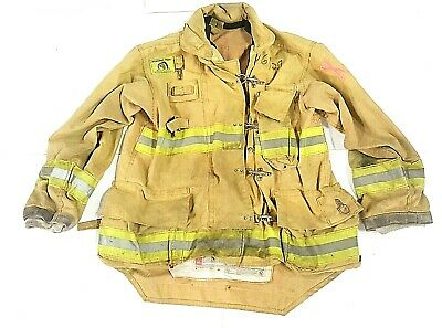 46x34 Morning Pride Brown Turnout Bunker Firefighter Coat Jacket No Liner Jnl-34