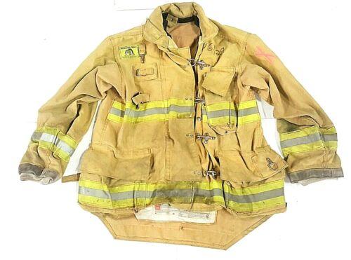 46x34 Morning Pride Brown Turnout Bunker Firefighter Coat Jacket No Liner JNL-34