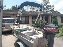 3.5 meter Aluminium boat with 15 hp Day or Night fishing boat Panania Bankstown Area Preview