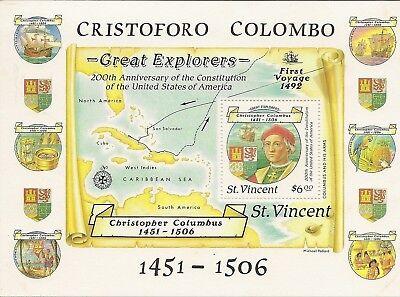 CHRISTOPHER COLUMBUS MINIATURE SHEETS (110)