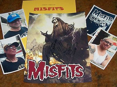 The MISFITS Signed Photo- SCARY for HALLOWEEN- HOT ITEM