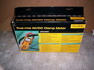 New Opened Box Fluke 355 True-rms Acdc Clamp Meter With Extras
