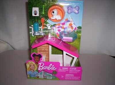 2019 Barbie Dreamhouse Outdoor Dog House & Accessories