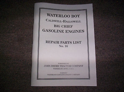 New Waterloo Gasoline Engine Co. Built Hit Miss Gas Engine Best Parts List 16