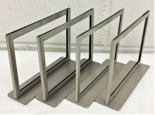 STORE SIGN HOLDER LOT BRUSHED SILVER METAL PHOTO FRAME 7.25 x 5.25 COUNTER TOP