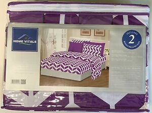 Home Vitals 100% Microfiber 6 pc Bed Sheet Set