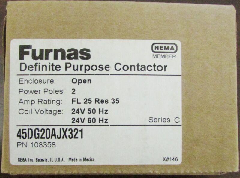 FURNAS Contactor 2 Pole 24V 45DG20AJX321