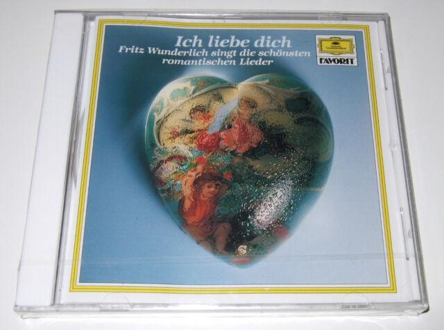 Ich Liebe Dich (CD, 1988) Fritz Wunderlich sings romantic Lieder, DG - new
