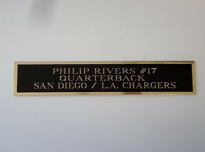 Philip Rivers Nameplate For An Autographed Football Jersey Case 1.5 X 8