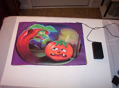 Vintage 1980's Screaming Halloween Plastic Door Mat-Nice Shape-Rare-14