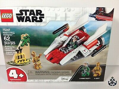 (NEW SEALED) Lego Star Wars Rebel A-wing Starfighter 75247-1 With C-3PO
