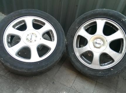 """Advanti rims 16"""" Holden need tyres"""