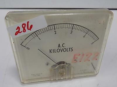 A.c. Kilovolts 0-5 Panel Meter Dial 250014 F.sima D-4746p-1