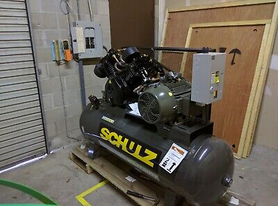 Schulz L-series 20120hlv80br-3 20-hp 120-gallon 80 Cfm Two-stage Air Compressor