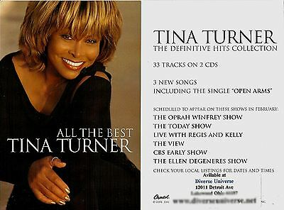 - Postcard - Tina Turner Music All The Best US 2004 Capitol Records Promotional