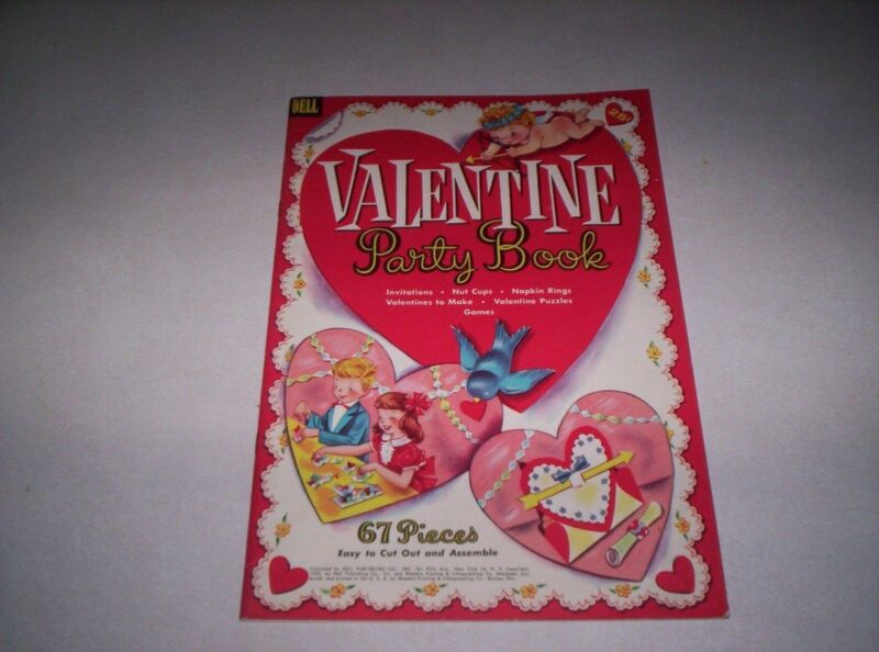 Vintage Dell Valentine party book 1955 complete