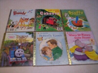 LOT (6) GOLDEN BOOKS THOMAS THE TRAIN LITTLE RED CABOOSE SCUFFY TUGBOAT & MORE